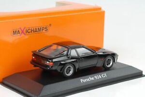 1981-Porsche-924-Gt-Black-1-43-Minichamps-Maxichamps