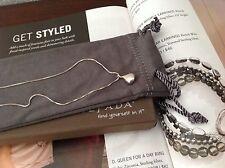 """SILPADA - N1470 - Sterling Silver Teardrop Pendant Necklace - NIB 17"""" long."""