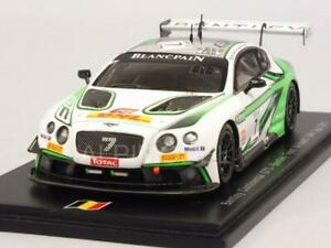 Bentley Continental Gt3 Spa 2017 Smith - Jarvis Kane 1:43 Spark Sb149