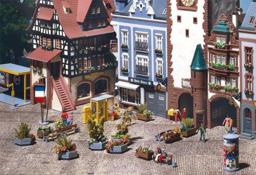 + Faller 180585 h0 ville décorer NOUVEAU /& NEUF dans sa boîte