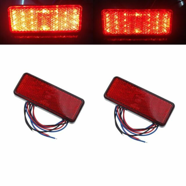 2x Universal Car ATV SUV 12V Red 24 LED Stop Fog Tail Brake Light Lamp Elegant