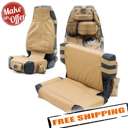 Smittybilt Pair G.E.A.R Molle Custom Fit Front Seat Covers Jeep Wrangler 13-17