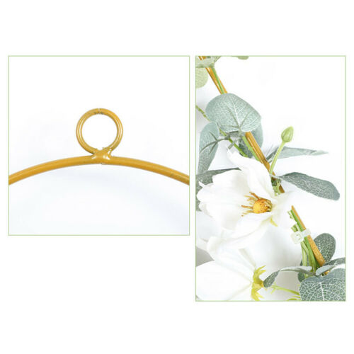 CW/_ Flower Wreath Metal Ring Triangle Square DIY Decor Hoop Hanging Ornament Ban