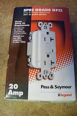 NOS Pass & Seymour Legrand 2095W 20 Amp 125-Volt AC GFCI Duplex Receptacle Brown