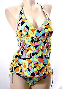 Courageux Platja Tankini 2 Pieces Tailles S, M & L Couleur Multicolore '045-arlequin'