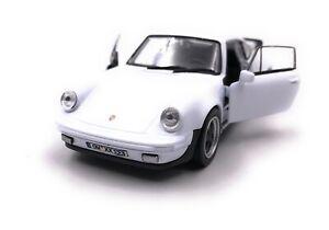 Porsche-911-Turbo-930-Auto-Sportive-Modellino-con-Richiesta-Targa-Bianco-1-3-4