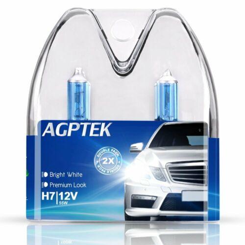 Agptek 2 lampadine h7 per fari anteriori sia auto che moto 12 v 55 w OtG