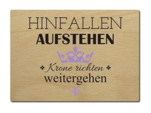 LUXECARDS POSTKARTE aus Holz HINFALLEN AUFSTEHEN Spruch Geschenk