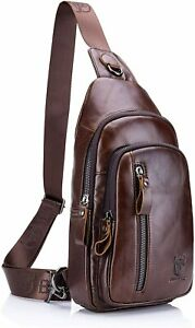 BULLCAPTAIN-Men-Leather-Crossbody-Bags-Shoulder-Messenger-Fashion-Chest-Bags