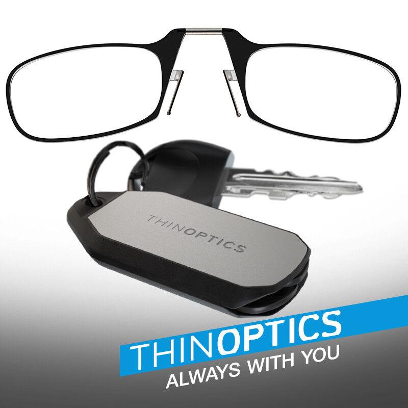 ThinOPTICS Reading Glasses + Keychain Fob   Black Frames, 2.50 ...