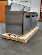 """MAXX Cold72"""" Commercial Salad & Sandwich Refrigerator Prep Table Cooler MXCR-72S"""