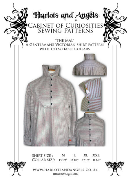 Steampunk Sewing Pattern Victorian Men\'s Shirt With Detachable ...