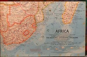 1960 Map Of Africa.Details About Vintage 1960 National Geographic Map Of Africa