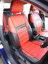 i - TO FIT A TOYOTA PRIUS CAR, SEAT COVERS, PRESTIGE PVC, RED/black
