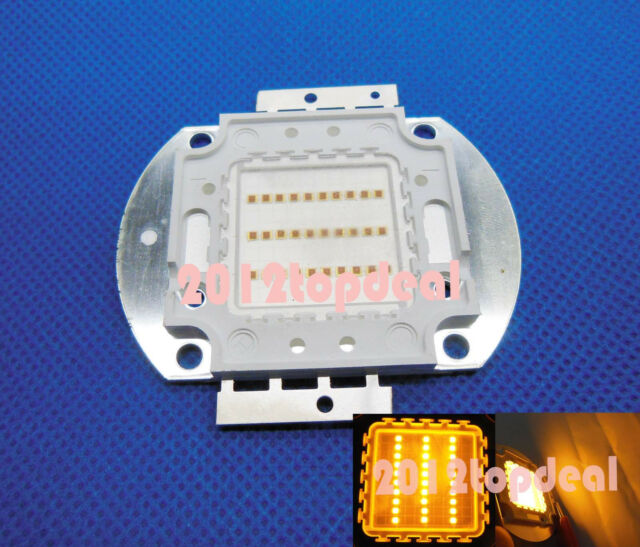 Yellow Color 10W 20W 30W 50W 100W Watt High Power LED Chip Light Lamp DIY