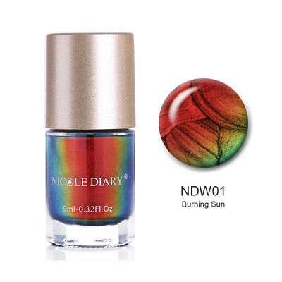 9ml Chameleon Nail Polish Wonderworld Series Flakes Sequins Varnish Nicole Diary
