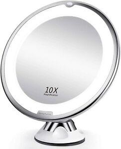 BEAUTURAL Grossissant Miroir Maquillage 10x avec Lumières LED 1 Joint à...