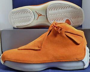 Nike-Air-Jordan-18-XVIII-Retro-Campfire-Orange-Suede-SZ-8-AA2494-801