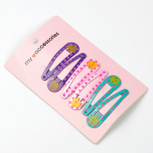 10Pcs//Pack Candy Color Hairpins Snap Hair Clip for Kids Girl Barrettes BB Clips~