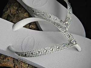 a29c00fc9 Havaianas Wedding Flip Flops Full Moon w  Swarovski Clear Crystal ...