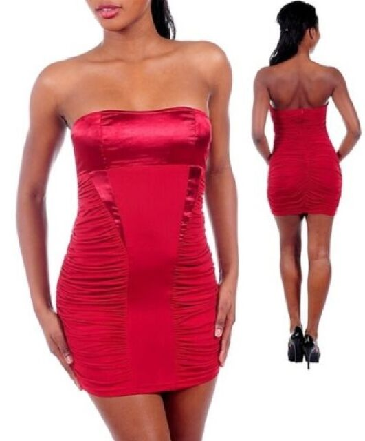 SEXY RED Strapless Forever 21 Clubwear Bodycon Dress