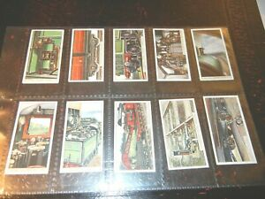 1927-RAILWAY-WORKING-railroad-trains-complete-set-cards-Tobacco-Cigarette-lot