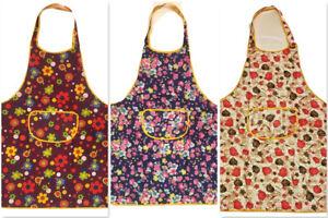 Women-Apron-Waterproof-w-Pockets-Kitchen-Restaurant-Chef-Cooking-Pack-of-2