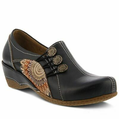 Sincere Spring Step L'artista Femmina Agacia Zoccolo In Pelle Nero Ideal Gift For All Occasions Comfort Shoes