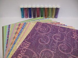 1-x-20-Pretty-A4-Glitter-Sheets-amp-Glitter-Pack-Cardmaking-Scrapbooking-AM211