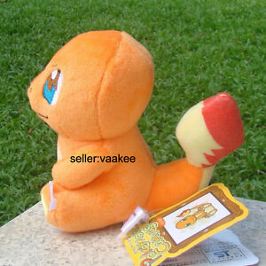 Pokemon-Go-Cute-Charmander-4-5-034-Plush-Toy-Cuddly-Stuffed-Animal-Doll-Nintendo