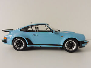 PORSCHE-911-Turbo-1977-Gulf-Blue-1-12-Minichamps-125066105-PMA-G-modello-1963