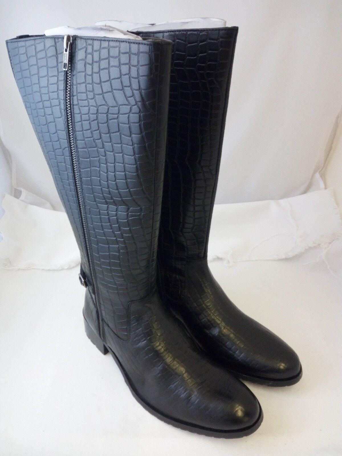 SHEEGO | Damen |  Weitschaft-Stiefel | Leder | schwarz | 855 733 XXL | EU 38