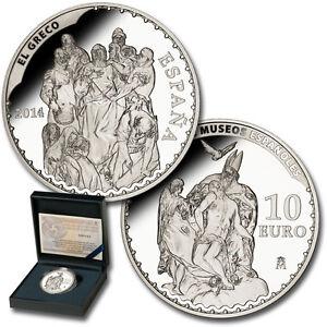 EspaÑa 10 Euro Plata 2014 El Greco Serie Tesoros Museos Españoles 8 Reales Rvawkjxs-08002443-666514474