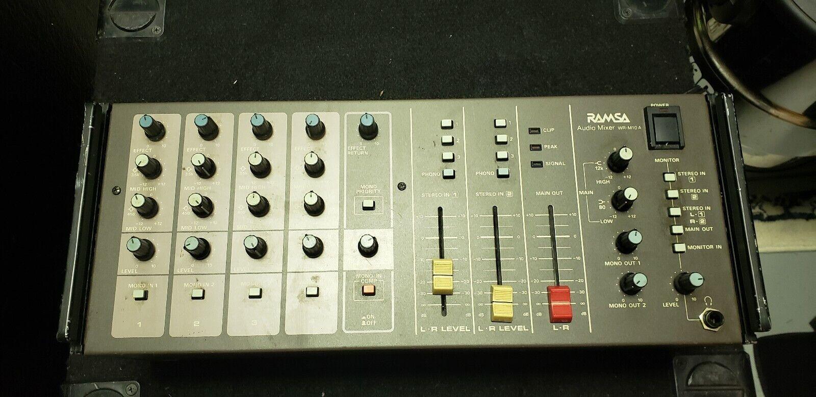 Ramsa Panasonic WR-M10A, Audio Mixer, Preamp, Compressor, Vintage Rack