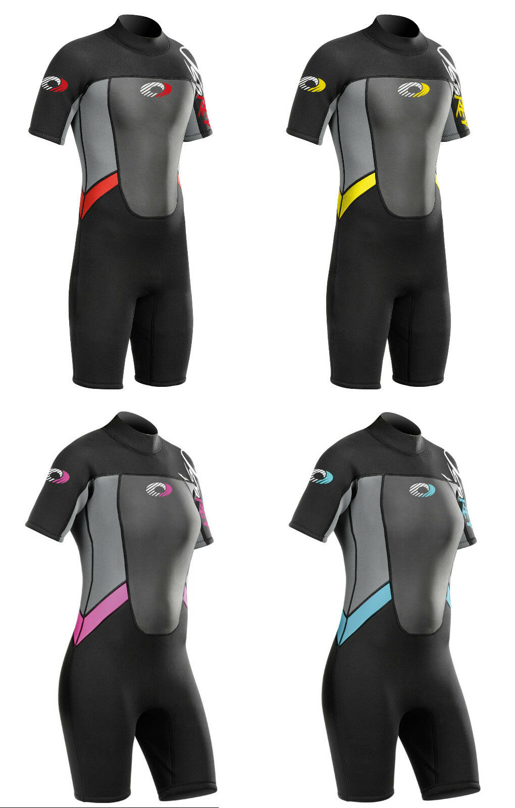Adults Ladies and Mens Osprey Origin 3 2mm Short Sleeve   Shorty Wetsuit
