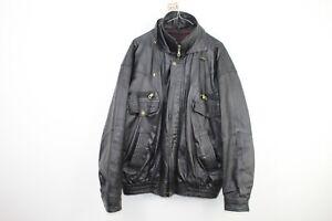 Mens-Real-Leather-Black-Jacket-Size-See-Description-No-T343-4-7