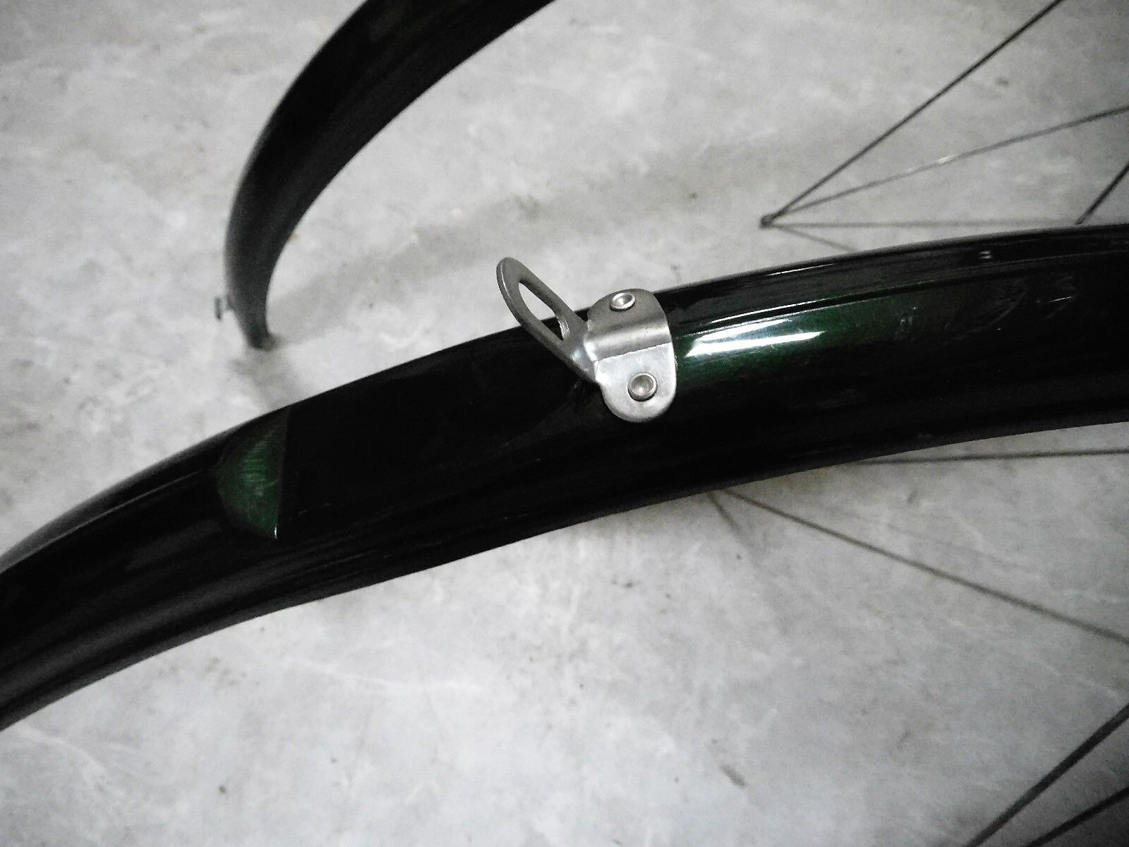 """Raleigh Bluemels Sprint Veloce Fenders Mudguards 700C 27/"""" W Green NOS 1970s NOS"""