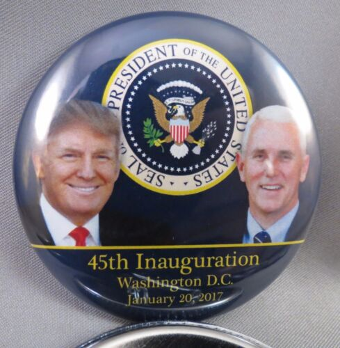 WHOLESALE LOT OF 12 TRUMP PENCE 45TH PRESIDENT INAUGURATION BUTTONS 01.20.17 USA
