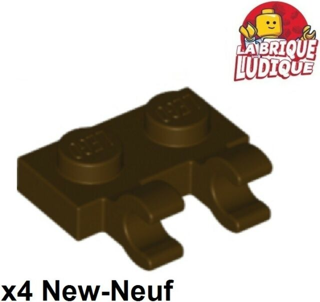 LEGO Medium Dark Flesh Plate Modified 1x2 Clip Horizontal Lot of 100 Parts Piece