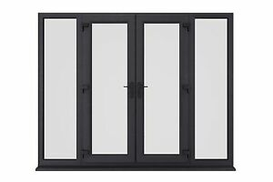 sports shoes 04ba7 f78ac Details about NEW ANTHRACITE (RAL 7016) GREY UPVC FRENCH PATIO DOORS - MADE  IN UK & IN STOCK