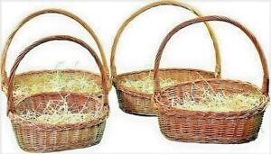 Präsentkorb Geschenkkorb  Korb in 4 Größen Weide leer mit Wolle Weidenkorb 🏆💥
