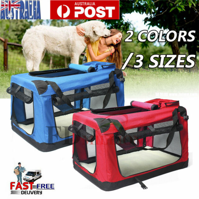 Pet Soft Crate Portable Dog Cat Carrier Travel Cage Kennel Foldable S/M/L/XL/XXL