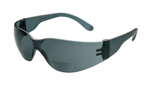 ERB IProtect Bifocal Safety Glasses Clear Smoke//Gray Magnifier Reader Reading