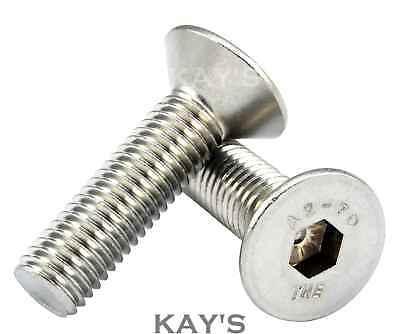 Meets shop Screws 5-50pcs Allen Key Head Din7991 M2 M2.5 M3 M4 M5 M6 Stainless Steel 304 or Black Hex Socket Flat Countersunk Head Screw Color : Grade 10.9 Black, Size : 18mm