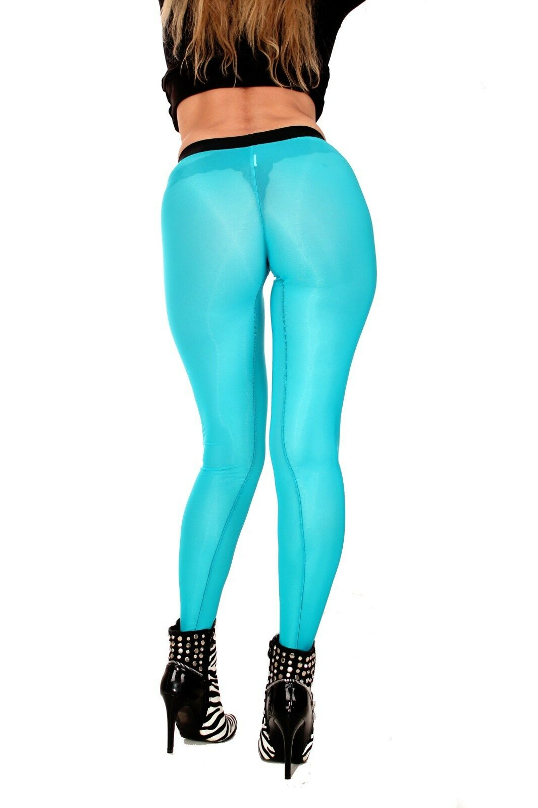 PUSSYRIOT Transparent NaturalContour Leggings HL2AX-B4 SheerSpandex 80 BLAU - M