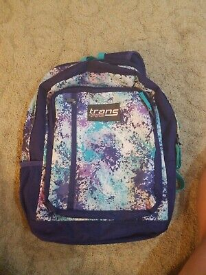 New Trans by JanSport Blue White Tie Dye Backpack Indigo Shibori W//Laptop Sleeve
