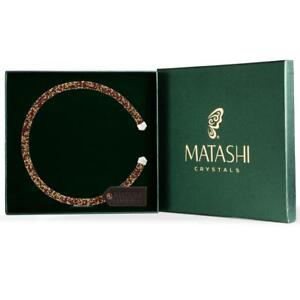 Red and Gold Glittery Luxurious Crystal Bangle Bracelet By Matashi