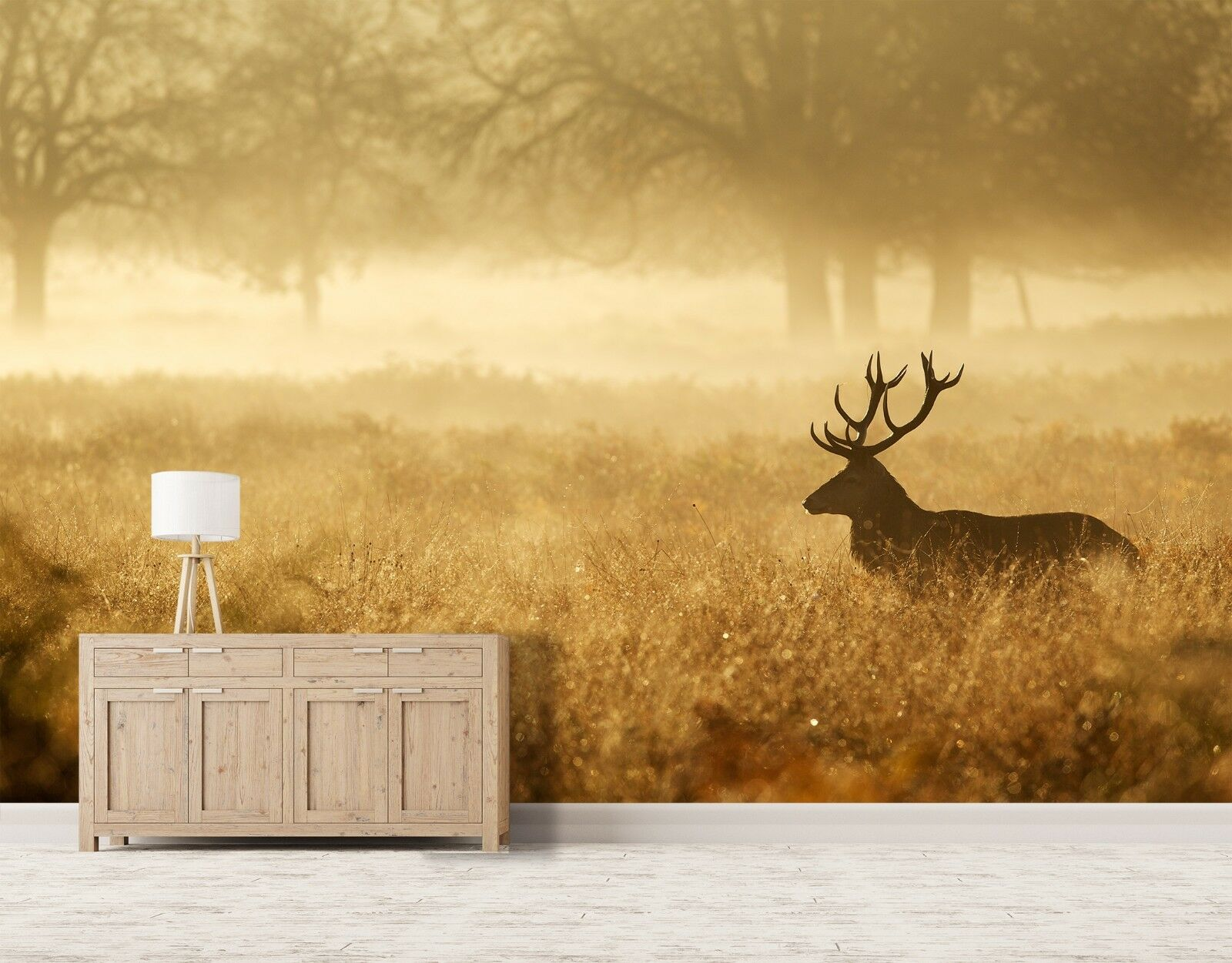 3D Forest Deer Nature 751 Wallpaper Mural Paper Wall Print Murals UK Jenny