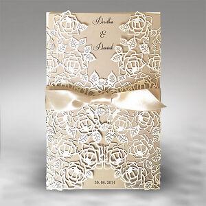 Schön Einladungskarte Hochzeit Fe04b Mit Umschlag, Einladung
