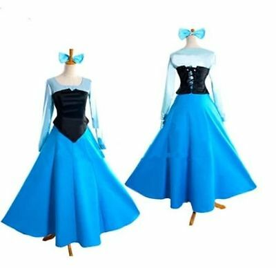 Adult The Little Mermaid Ariel Princess Cosplay Halloween Costume Party Dress